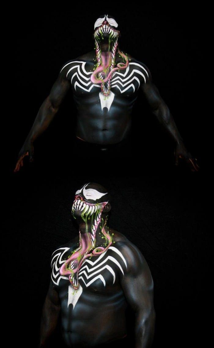Venom Body Paint - it looks more menacing than spider man 3.... pffffttt erik foreman as a bad guy yea right......