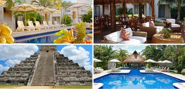 Hotel en Cancún + Chichen Itzá $6,999