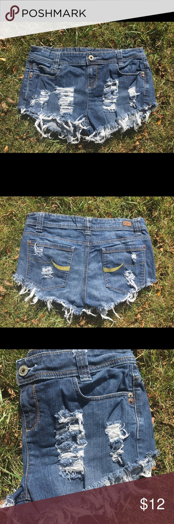 DKNY women shorts size 12 DKNY 12 women ripped shorts!!! Keep up with the style and grab these jeans to go to the beach, ocean, pool, or out with the girlfriends!! These are used, ripped and cut by me if you want more ripping just contact me, customers request is my priority!!! DKNYC Jeans