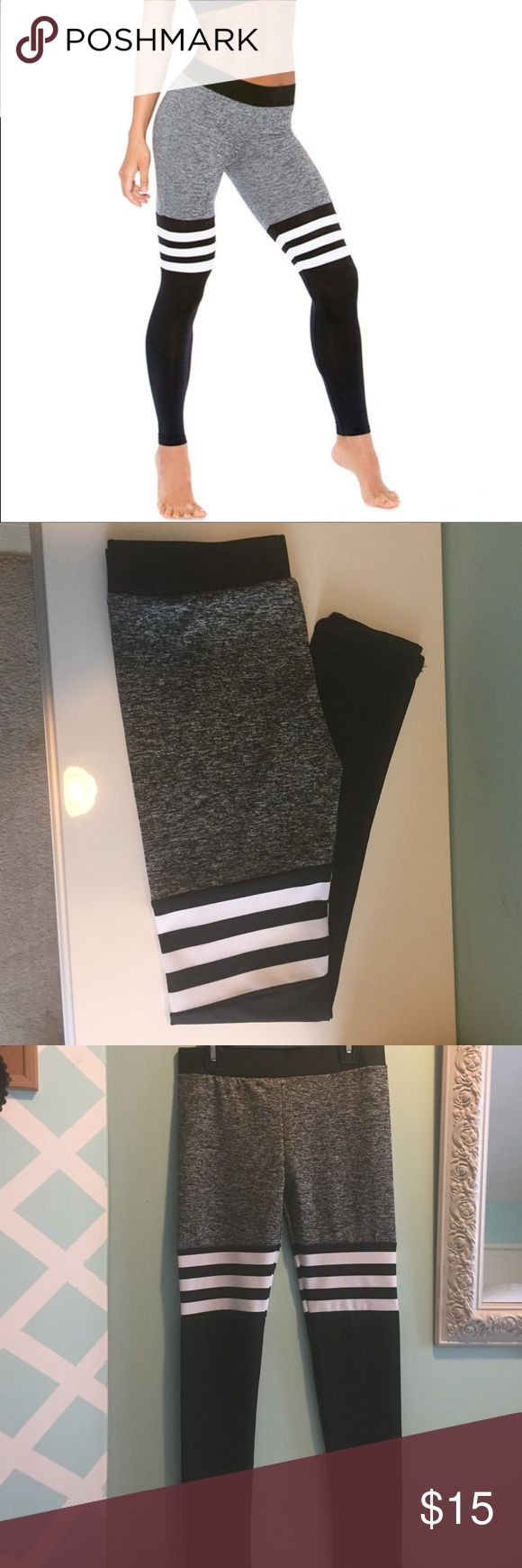🔥 Fashionable gym leggings 🔥 Made of Polyester and Spandex material.                   The material is semi transparent. Pants Leggings