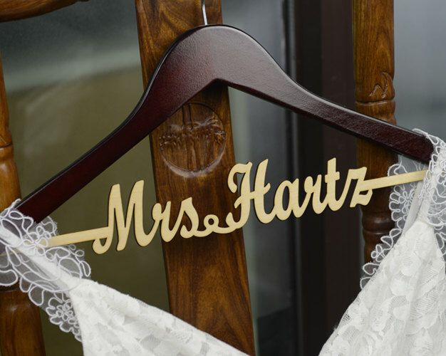 Personalized Rustic Wedding Dress Hanger, New-tech Bride Bridesmaid Wood Name Hanger, Custom Wedding Bridal Hanger, Bridal Shower Gift CM003 by bridenew on Etsy https://www.etsy.com/listing/264761178/personalized-rustic-wedding-dress-hanger