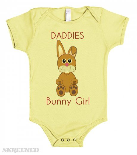DADDIES Bunny Girl - One piece baby tee shirts