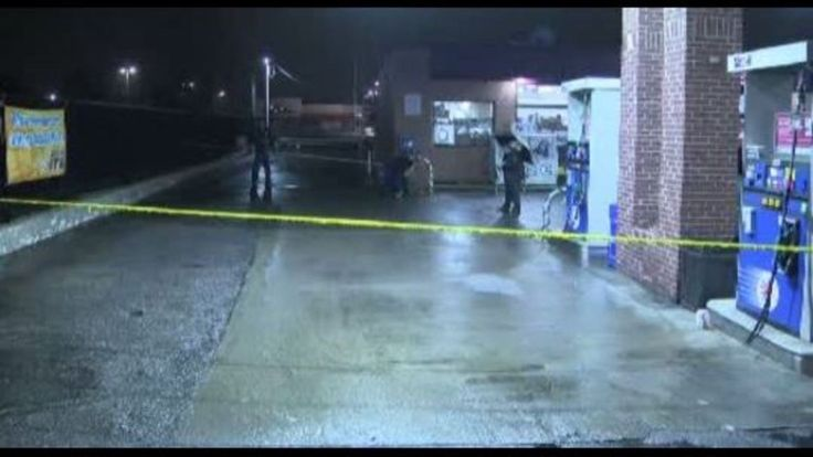Homicide investigators from the Detroit Police Department are investigation a deadly shooting at a gas station on 7 mile near Myers on Detroit's west side early Tuesday morning.