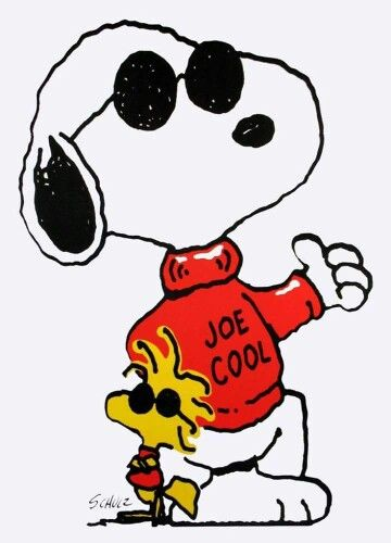Joe Cool and Woodstock