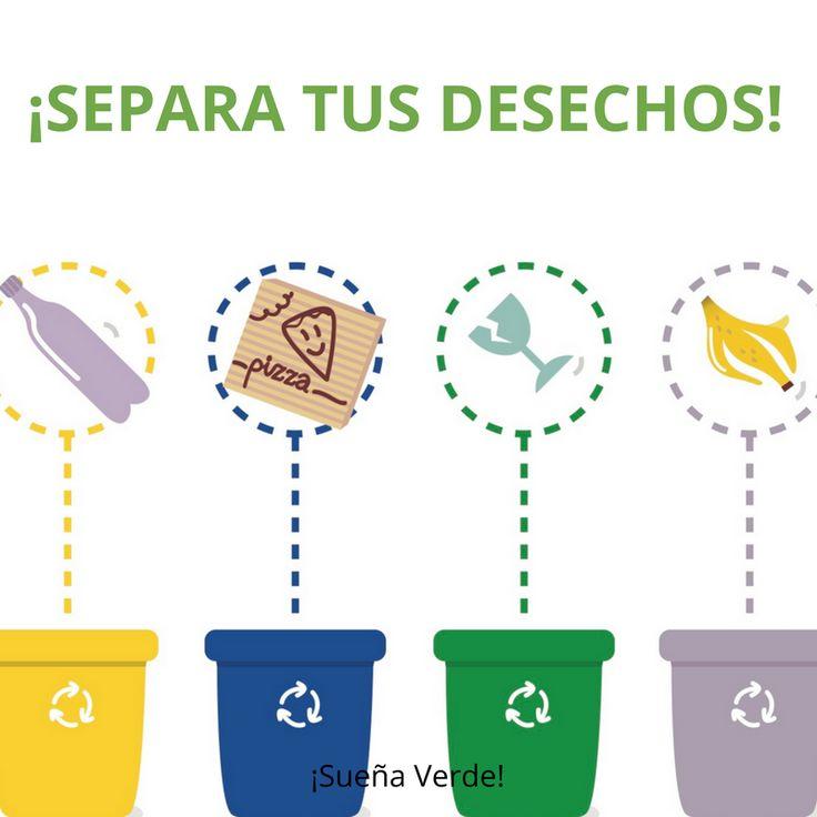 Separa los desechos! Es importante reciclar todos os residuos para - mauvaises odeurs canalisations salle de bain