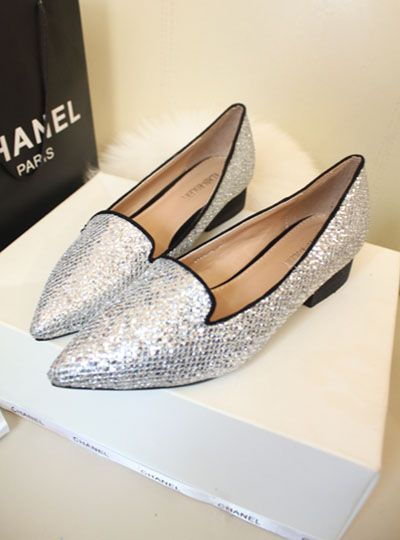 shoes - http://zzkko.com/n217750-ritish-retro-shoes-with-pointed-rough-with-sequined-shoes-2013-new-Korean-version-of-the-influx-of-boat-shoes-Neutral-shoes.html $25.54