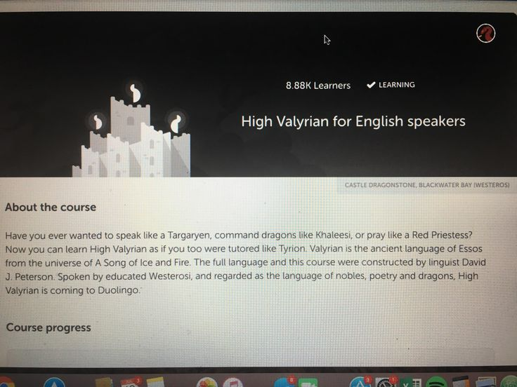 [EVERYTHING] You can now learn High Valyrian on Duolingo!