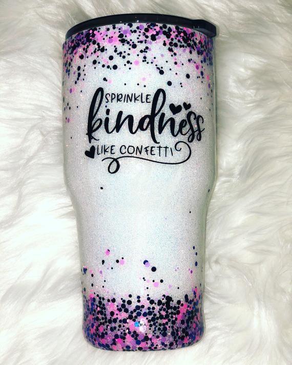 Back the F/%/&* up Sprinkle Tumbler Glitter Tumbler Personalized Tumbler