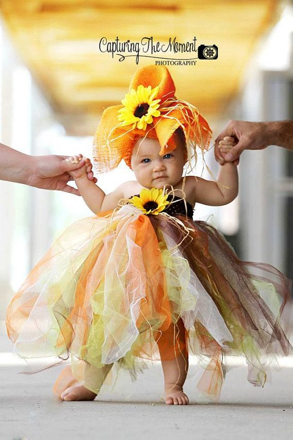 Scarecrow Tutu Dress and Burlap Hat with by ZoesBowtique7 on Etsy, $35.00
