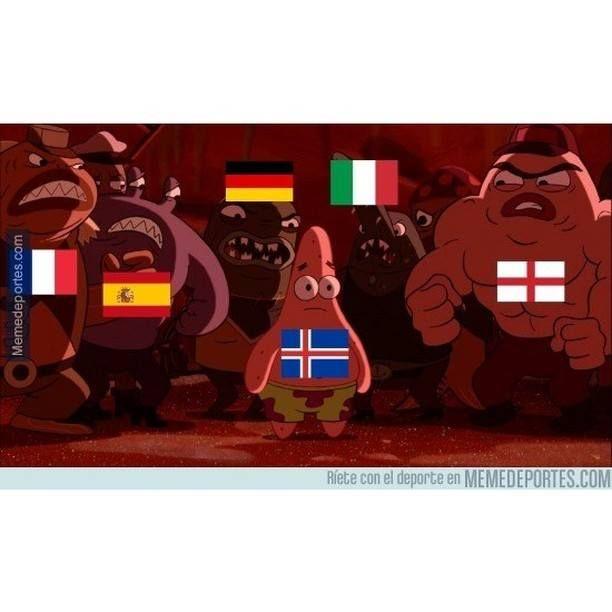 Islandia al pasar a octavos #Alemania #Cuadrodifícil #España #Eurocopa #Inglaterra #Islanda #Italia #humor