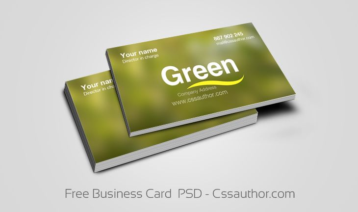 9 best business card templates psd images on pinterest free business card templates psd cssauthor wajeb Images