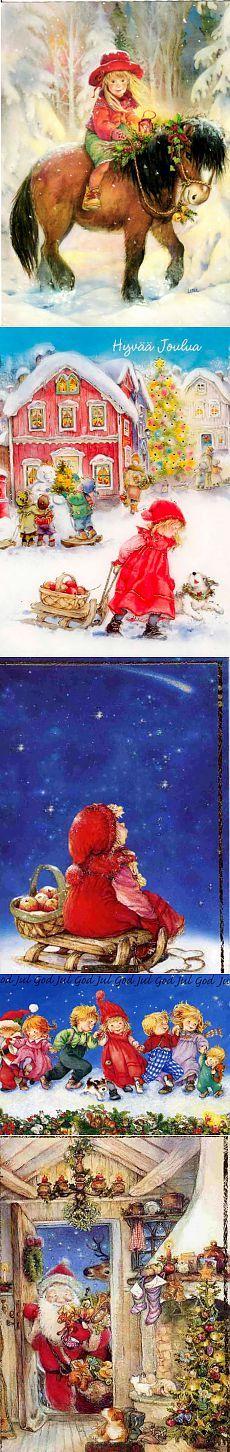 Новогодние и рождественские картины Lisi Martin | ПОЛУНОЧНИЦА
