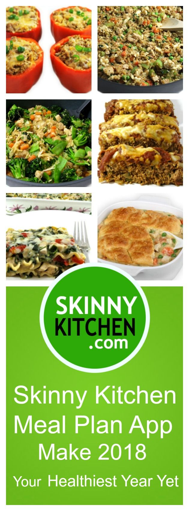 Make 2018 Your Healthiest Year Yet with Skinny Kitchen Meal Plan App. If you're like me you've probably over done it this holiday season and can't wait to eat healthy again, right? Or maybe you've been struggling with your weight and need some help or just want a plan to help you and your family eat healthier? Check out Skinny Kitchen Weight Loss Meal Plan App. https://www.skinnykitchen.com/recipes/make-2018-your-healthiest-year-yet-with-skinny-kitchen-meal-plan-app/