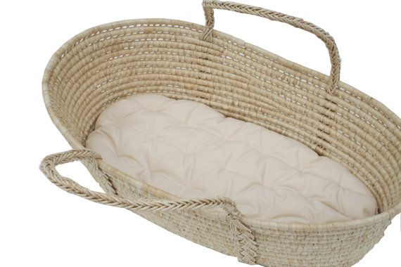 Moses basket futon with organic cotton stuffing. $69.00, via Etsy.