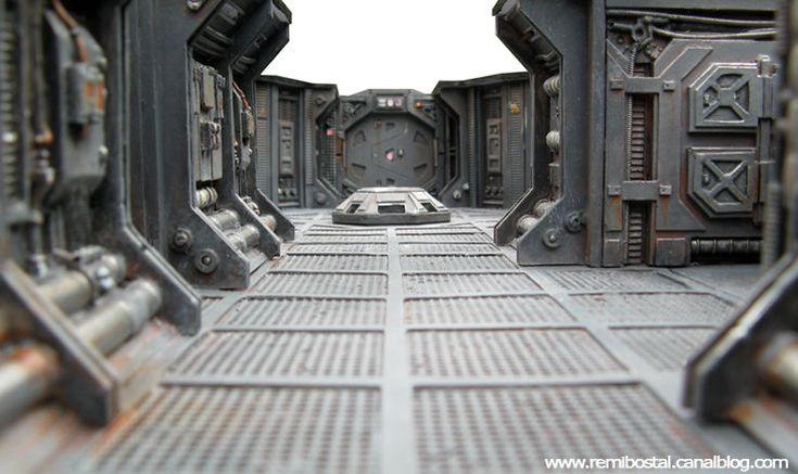 D cors miniatures sf coursives sas et zones de stockages for Interieur vaisseau star wars