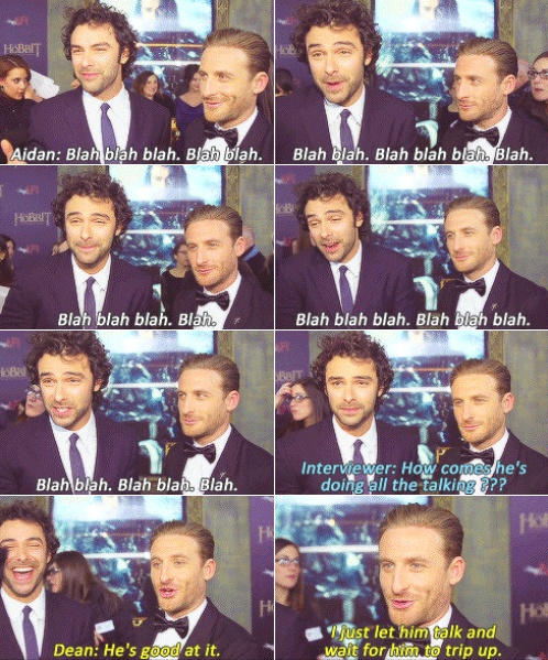 Aiden Turner and Dean O'Gorman    I'm so saying this next time someone asks me in class why I'm so quiet!