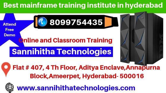 Best IBM Mainframe Training Institute in Hyderabad Here Sannihitha