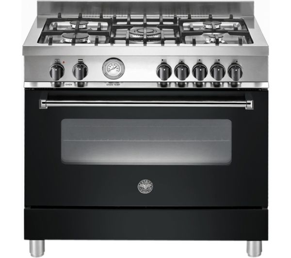 Buy BERTAZZONI Master 90 Dual Fuel Range Cooker - Matte Black & Stainless Steel | Free Delivery | Currys