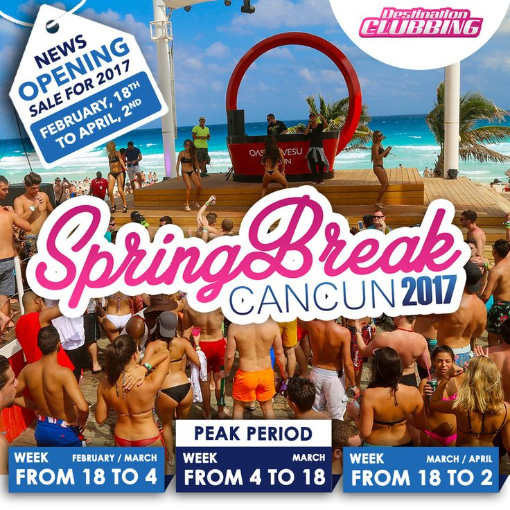 You can already book your tickets for Spring Break Cancun 2017! Don't miss it!