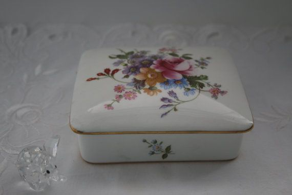 Jewelry/Cigarette Box by Royal Crown Derby England by TinasDecor