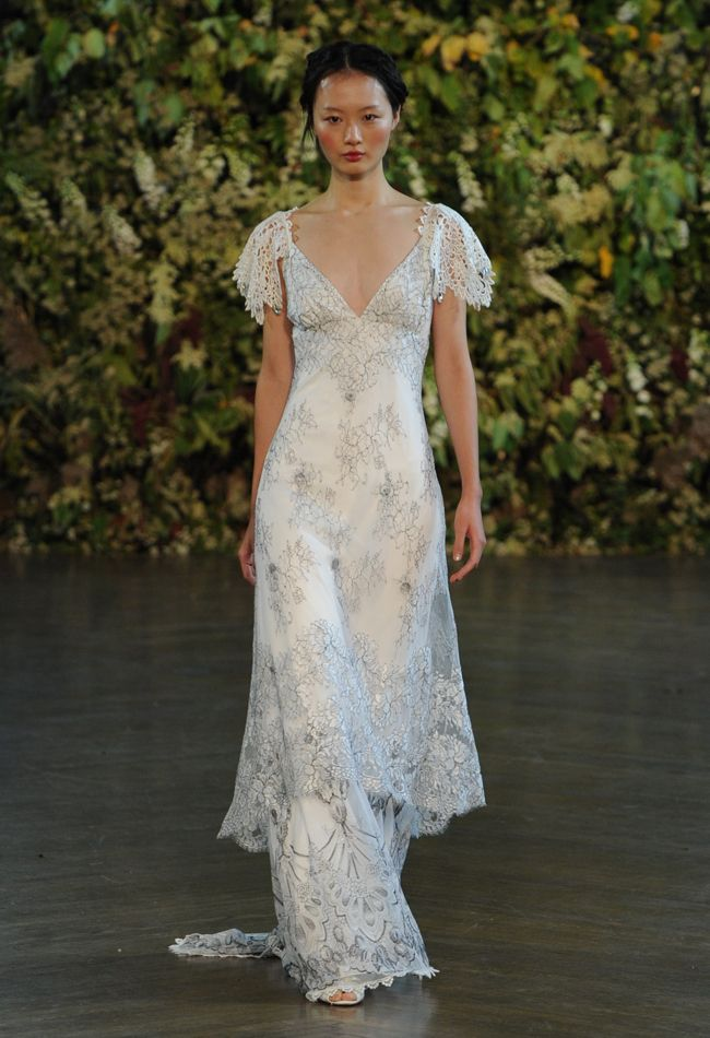 Lace Sleeve Wedding Dress   Claire Pettibone Wedding Dresses Fall 2015   Kurt Wilberding   blog.theknot.com