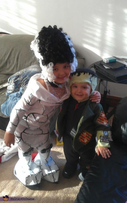 Frankenstein and the Bride of Frankenstein Costume | Diy ...
