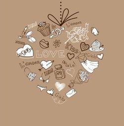 Trouwkaart hart gemaakt van liefdevolle decoraties. Kies de kaart, pas de tekst aan en vraag een gratis proefdruk op (je betaalt zelfs geen verzendkosten!). http://www.trouwpost.nl/trouwkaarten/hartjes/