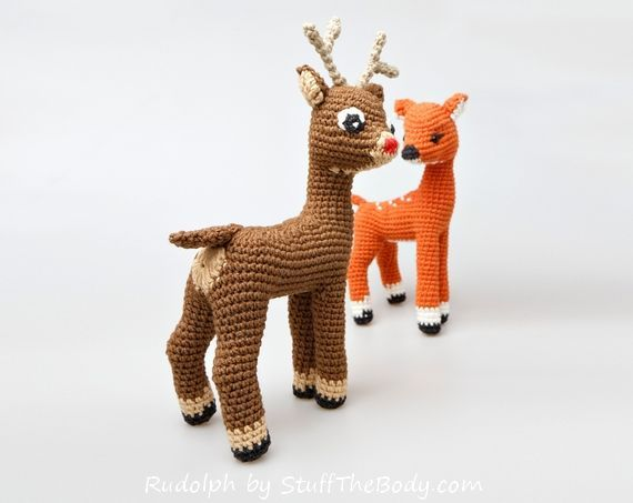 rudolph the rednosed reindeer free amigurumi pattern modification - you need to pay for the original pattern though