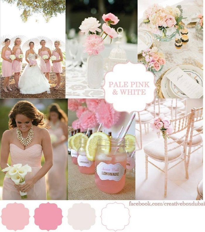 Wedding Colour Scheme – Bride Club ME's Pick of the Week {Creative Box}-Pale Pink and White