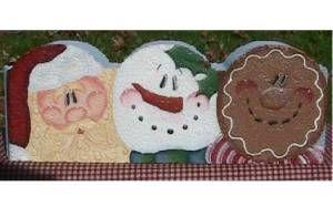 Holiday Trio Painted Border Brick
