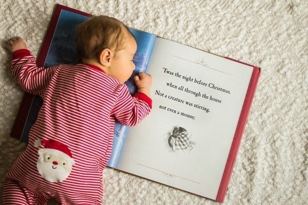 And this baby who just couldn't stay up on Christmas Eve: | 29 Babies Who Totally Nailed Their First Christmas Photo Shoot