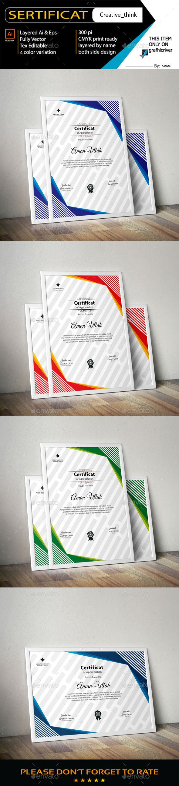 #Certificate - Certificates Stationery Download here: https://graphicriver.net/item/certificate/19258807?ref=alena994