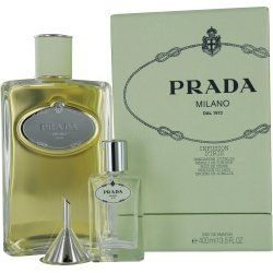 PRADA INFUSION D'IRIS by Prada EAU DE PARFUM 13.5 OZ by PRADA. $96.49. Recommended Use: casual. Fragrance Notes: Mandarin Orange, Frankincense, Lentisk, Orange Blossom, Cedar, Iris, Vetiver, Benzoin, Galbanum. Design House: Prada. EAU DE PARFUM 13.5 OZ Design House: Prada Year Introduced: 2007 Fragrance Notes: Mandarin Orange Frankincense Lentisk Orange Blossom Cedar Iris Vetiver Benzoin Galbanum. Save 56%!