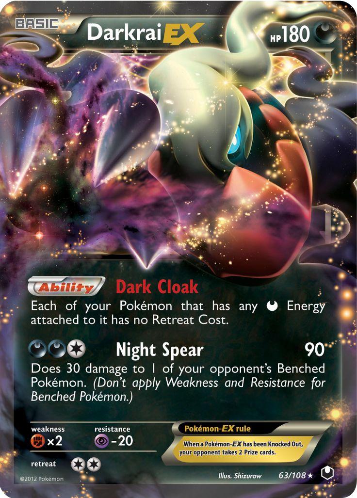 Darkrai EX Dark Explorers Set Pokemon Card