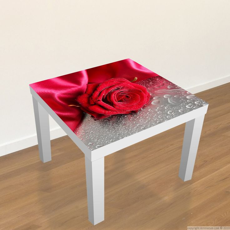 #Ikea #Table #Decal   Red Rose // #Stickers Table Ikea
