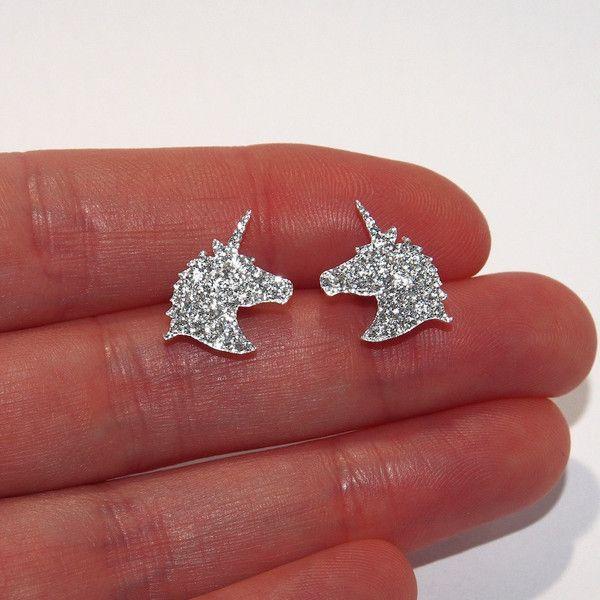 Sparkle Unicorn Stud Earrings Unicorn Earrings Unicorn Stud Earrings... ($6.88) ❤ liked on Polyvore featuring jewelry, earrings, studded jewelry, unicorn jewelry, sparkly earrings, earring jewelry and unicorn earrings