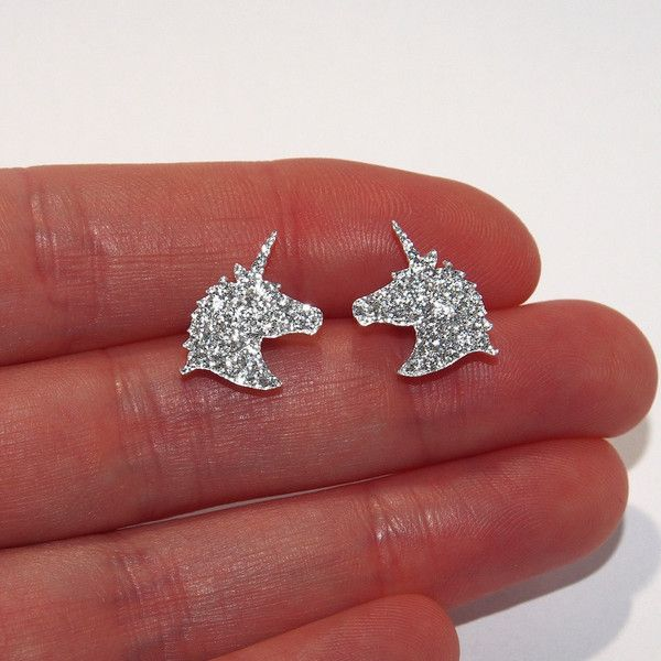 Sparkle Unicorn Stud Earrings Unicorn Earrings Unicorn Stud Earrings... ($6.88) ❤ liked on Polyvore featuring jewelry, earrings, studded jewelry, unicorn jewelry, sparkly earrings, earring jewelry and unicorn earrings