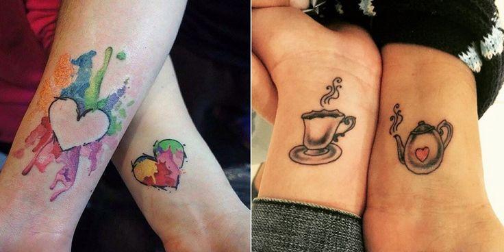 1000 id es sur le th me tatouages m re fille sur pinterest - Tatouage a deux ...