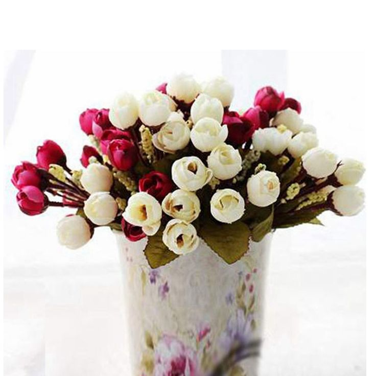 15 Heads Bonquet Artificial Rose Silk Flower Home Wedding Party Bridal Decoration Cheap - NewChic