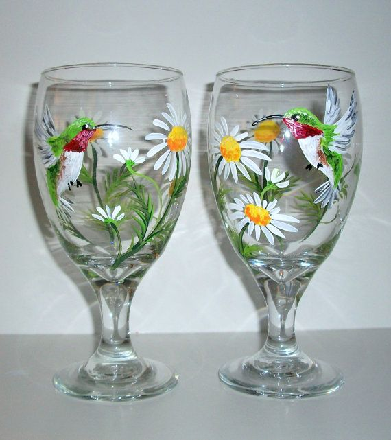 17 best images about humming bird on pinterest quilling for Hand painted glassware