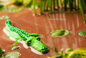 Annkristina's, alligator, crocodile, krokotiili, alligaattori, muovailuvaha, modelling clay figure