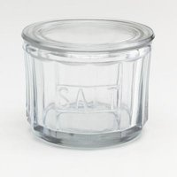 Oldstyle farmhouse Glass Salt Cellar with lid - Lifestyle Home and Living