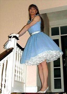 I like his dress and all those petticoats.