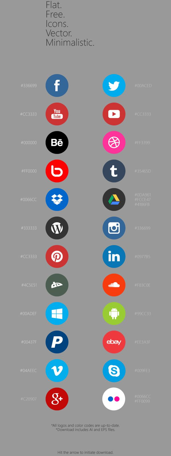 Flat Free Social Icons on Behance