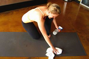 How to Clean a Yoga Mat.  Need to start doing this regularly!