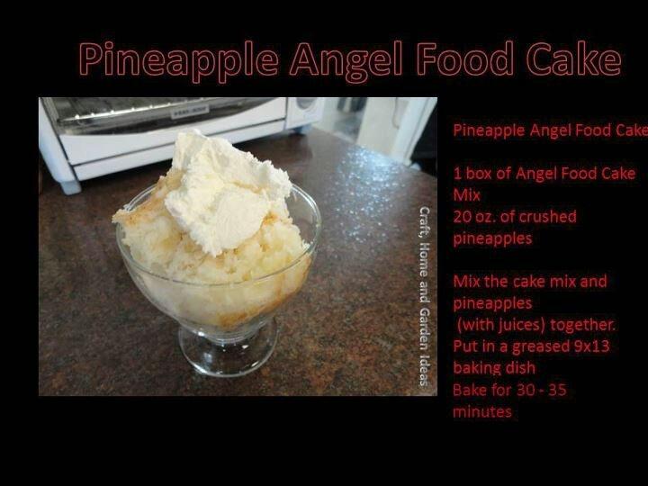 Pinapple angel food cake