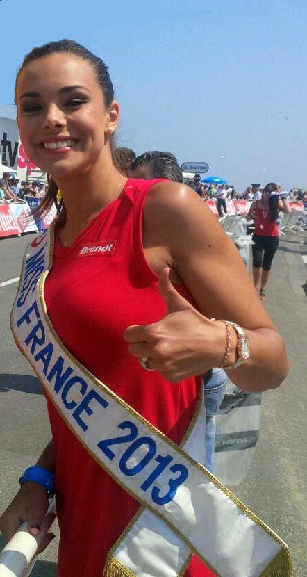 Miss France 2013 wearing her Charriol St-Tropez Infinite Summer watch at The Tour de France #tourdefrance #TDF2013 #missfrance