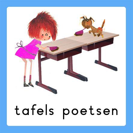 tafels poetsen