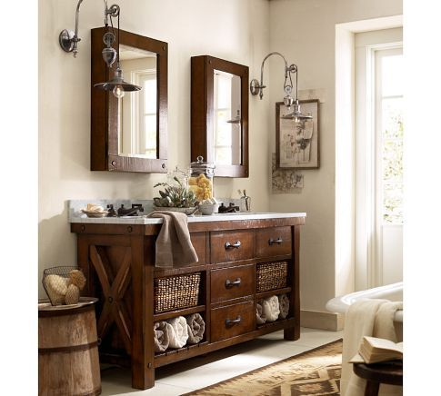 Benchwright Double Sink Console Pottery Barn Wonderful