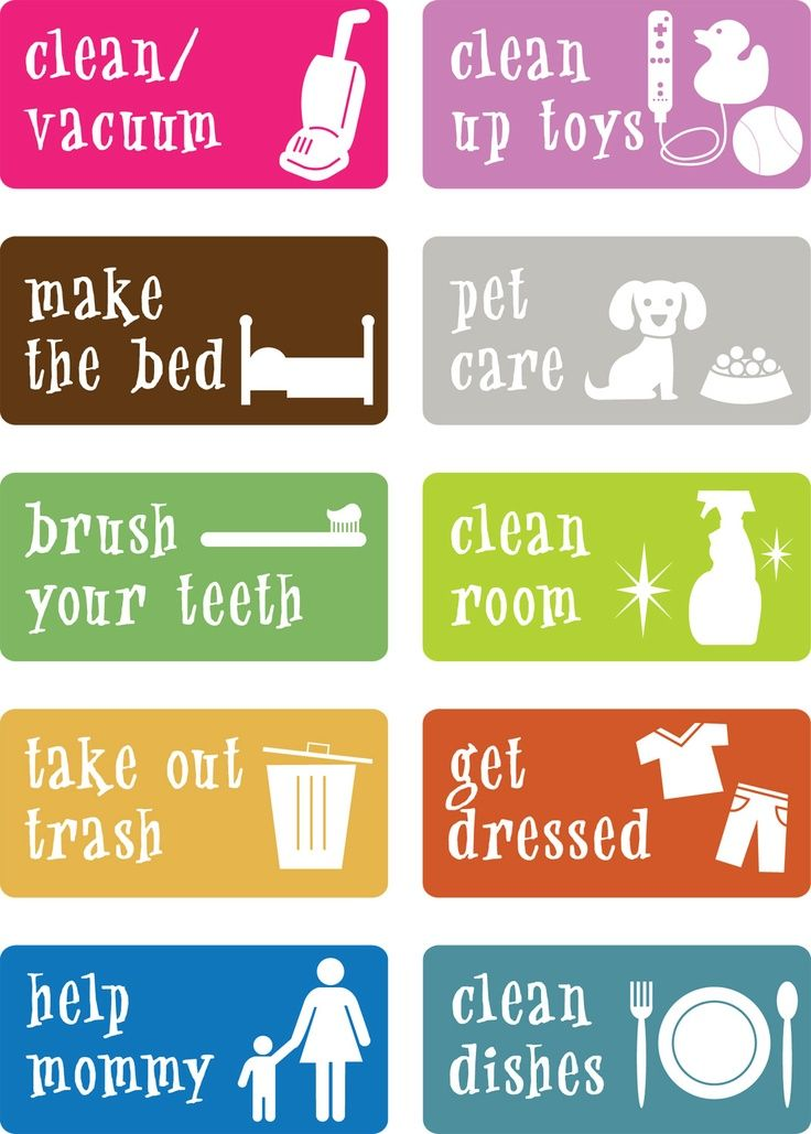 Best Kids Chores Charts  Cleaning Images On